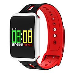 tanie Inteligentne zegarki-Yy męska kobieta tf1 pro ekran dotykowy bluetooth kolor inteligentny bransoletka pulsometr nadgarstek fitness smart zespół dla ios android