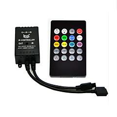 led音楽irコントローラdc 12v 20キーirリモコン3528 5050 2835 rgb ledストリップライトミニコントローラ