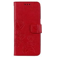 halpa Galaxy S3 kotelot / kuoret-Etui Käyttötarkoitus Samsung Galaxy S8 Plus S8 Lomapkko Korttikotelo Tuella Flip Koristeltu Kuvio Magneetti Kokonaan peittävä Kukka Kova
