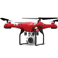billige Quadrokopter-RC Drone FLYRC X52 4 Kanaler 6 Akse 2.4G Med HD-kamera 0.3MP 640P*480P Fjernstyret quadcopter WIFI FPV Højde Holding LED Lys En Knap Til