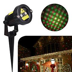 preiswerte Außenleuchten-hkv® voller Himmel Sterne Weihnachten Laser Projektor Lampe grün&rote LED Bühnenlicht im freien Landschaft Rasen Garten Licht