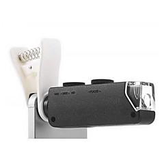 100X Zoom Clip Microscope Micro Camera Kit for Mobile Phone - BLACK