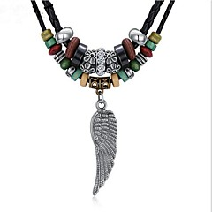 cheap Necklaces-Men's / Women's Turquoise Pendant Necklace  -  Silver Plated Wings Vintage Black Necklace One-piece Suit For Gift, Daily