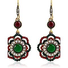 preiswerte Ohrringe-Damen Tropfen-Ohrringe - Harz Blume Retro, Elegant Gold Für Alltag / Normal
