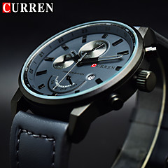 cheap Luxury Watch-Men's Quartz Wrist Watch Military Watch Sport Watch Calendar / date / day Genuine Leather Band Charm Luxury Creative Casual Unique