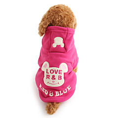 Dog Hoodie Dog Clothes Cute Keep Warm Cartoon Black Rose Costume For Pets
