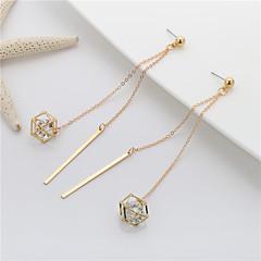 Damskie Hot Fix Kolczyki wiszące Słodkie Elegancki Miedź Geometric Shape Biżuteria Na Impreza