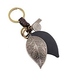 preiswerte Schlüsselanhänger-Blattform Schlüsselanhänger Silber Leder, Aleación Retro Für Alltag / Ausgehen