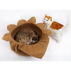 고양이 침대 애완동물 라이너 솔리드 블루 핑크