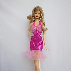 パーティー/イブニング ドレス ために バービー人形 フクシア ために 女の子の 人形玩具
