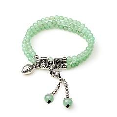 preiswerte Armbänder-Damen Onyx / Synthetischer Smaragd Strang-Armbänder / Wickelarmbänder - Krystall, Smaragdfarben Ethnisch, Modisch Armbänder Grün Für Hochzeit / Geschenk