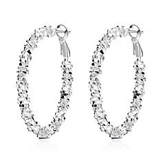 Dames Druppel oorbellen Ring oorbellen Vintage Modieus Hypoallergeen Zoet Schattig Koper Verzilverd Cirkelvorm Sieraden Voor Dagelijks