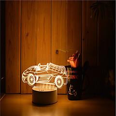お買い得  USB ライト-1セット 3Dナイトライト 温白色 USB 調光可能 創造的 変色 5V アーティスティック LED コンテンポラリー