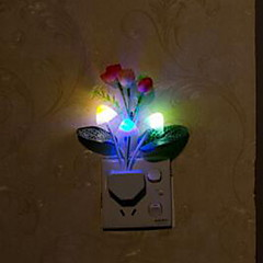お買い得  LED アイデアライト-1枚 ウォールプラグ夜光 充電式 コンパクトデザイン スマールサイズ 小型 LED