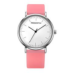 preiswerte Damenuhren-REBIRTH Damen Armbanduhr Chinesisch Wasserdicht Silikon Band Freizeit / Elegant / Minimalistisch Weiß / Blau / Braun / Edelstahl