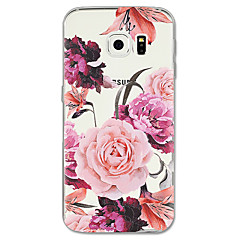 voordelige Galaxy S6 Edge Hoesjes / covers-hoesje Voor Samsung Galaxy S8 Plus S8 Patroon Achterkant Bloem Zacht TPU voor S8 Plus S8 S7 edge S7 S6 edge plus S6 edge S6