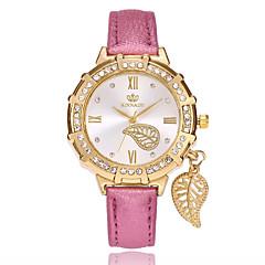 preiswerte Tolle Angebote auf Uhren-Damen Armbanduhr Quartz PU Band Analog Blätter Freizeit Modisch Schwarz / Weiß / Blau - Rot Blau Hellblau