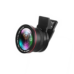 zomei 2 in 1 clip-on professionele hd-camera lens met 37mm draad 0.42x super fisheye lens 10x macro lens voor iphone
