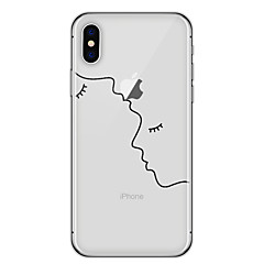 billige iPhone-etuier-Etui Til Apple iPhone X iPhone 8 Transparent Mønster Bagcover Linjeret / bølget Geometrisk mønster Tegneserie Blødt TPU for iPhone X