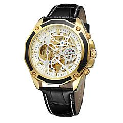preiswerte Tolle Angebote auf Uhren-FORSINING Herrn Armbanduhren für den Alltag / Modeuhr / Armbanduhr Armbanduhren für den Alltag / Cool Echtes Leder Band Freizeit Schwarz / Braun / Automatikaufzug