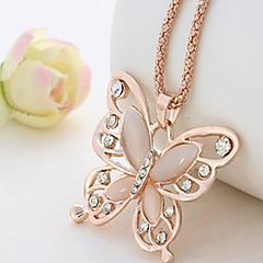Women's Pendant Necklaces Chain Necklaces Acrylic Butterfly Acrylic Alloy Vintage Elegant Jewelry For Gift Daily