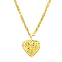 preiswerte Halsketten-Damen Anhängerketten / Medaillon Halskette - 18K vergoldet Medaillon, Herz Erklärung Gold, Silber Modische Halsketten Für Party, Alltag