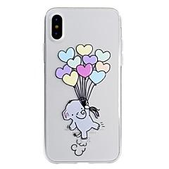 Кейс для Назначение Apple iPhone X iPhone 8 Plus С узором Задняя крышка Слон Мягкий TPU для iPhone X iPhone 8 Plus iPhone 8 iPhone 7 Plus