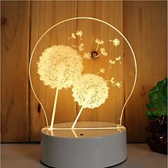 preiswerte USB Lampen-1set 3D Nachtlicht Abblendbar Kreativ Farbwechsel Dekorativ LED-Lampe Künstlerisch LED Modern/Zeitgenössisch