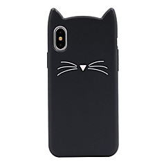 billige iPhone-etuier-Etui Til Apple iPhone X iPhone 8 Mønster Bagcover Kat Tegneserie Blødt Silikone for iPhone X iPhone 8 Plus iPhone 8 iPhone 7 Plus iPhone