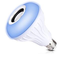 1 комплект 12W E27 Умная LED лампа А80 1 светодиоды COB Bluetooth Диммируемая На пульте управления Декоративная RGB 1000lm 2700-9000