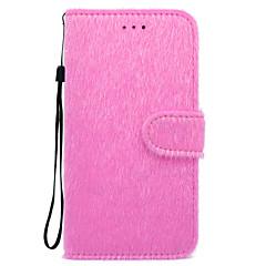 Недорогие Кейсы для iPhone 7-Кейс для Назначение Apple iPhone X iPhone 8 Бумажник для карт Кошелек Стразы со стендом Чехол Сплошной цвет Твердый Текстиль для iPhone X
