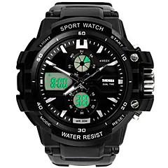 preiswerte Digitaluhren-SKMEI Herrn Armbanduhren für den Alltag / Sportuhr / Modeuhr Japanisch Kalender / Wasserdicht / Duale Zeitzonen PU Band Luxus / Freizeit Schwarz