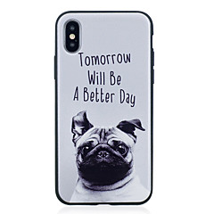 voordelige iPhone 7 Plus hoesjes-hoesje Voor Apple iPhone X iPhone 8 Plus IMD Patroon Achterkant Hond Zacht TPU voor iPhone X iPhone 8 Plus iPhone 8 iPhone 7 Plus iPhone