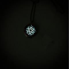 Недорогие Женские украшения-Жен. Ожерелья с подвесками / Ожерелье с замками - Медальон Мода, Светящийся Светящийся Светло-синий, Светло-Зеленый Ожерелье Бижутерия 1 Назначение Для улицы, Бар
