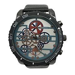 お買い得  大特価腕時計-JUBAOLI 男性用 リストウォッチ 中国 クール / 大きめ文字盤 合金 / レザー バンド ヴィンテージ / ユニーククリエイティブウォッチ ブラック