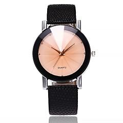Men's Women's Casual Watch Fashion Watch Wrist watch Chinese Quartz Large Dial PU Band Casual Black