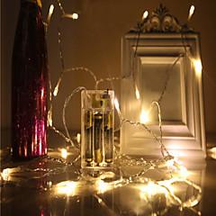preiswerte LED Lichtstreifen-4m Leuchtgirlanden 40 LEDs LED Diode 4M Lichterkette Warmes Weiß / Kühles Weiß / Rot Dekorativ / Weihnachtshochzeitsdekoration <5 V 1pc / IP44