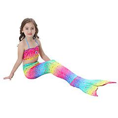 The Little Mermaid Fürdőruha Bikini Gyermek Karácsony Álarcos mulatság Fesztivál / ünnepek Mindszentek napi kösztümök Szivárvány