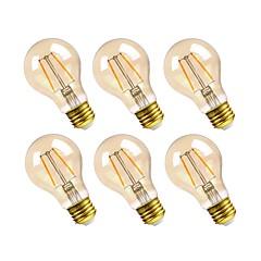 preiswerte LED-Birnen-GMY® 6pcs 2.5W 160lm E26 LED Glühlampen A19 2 LED-Perlen COB Abblendbar Dekorativ LED-Lampe Warmes Weiß 110-130V