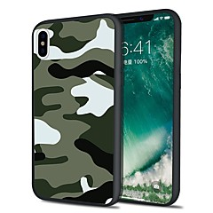 billige iPhone 6 Plus Plus-etuier-Etui Til Apple iPhone X iPhone 8 Plus Mønster Bagcover Camouflage Blødt TPU for iPhone X iPhone 8 Plus iPhone 8 iPhone 7 Plus iPhone 7