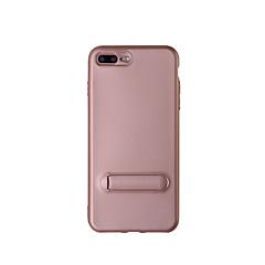 Недорогие Кейсы для iPhone 6 Plus-Кейс для Назначение Apple iPhone 8 iPhone 8 Plus со стендом Чехол Сплошной цвет Мягкий ТПУ для iPhone 8 Pluss iPhone 8 iPhone 7 Plus