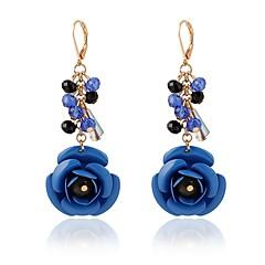 preiswerte Ohrringe-Damen Tropfen-Ohrringe - Krystall Blume Klassisch, Modisch Dunkelblau / Fuchsia / Grün Für Alltag