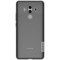 お買い得  新着品-ケース 用途 Huawei Mate 10 pro Mate 10 lite 超薄型 クリア バックカバー 純色 ソフト TPU のために Mate 10 Mate 10 pro Mate 10 lite