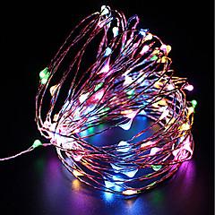 preiswerte LED Lichtstreifen-ZDM® 10m Leuchtgirlanden 100 LEDs SMD 0603 10M Lichterkette Warmes Weiß / Kühles Weiß / Rot <5 V 1pc / IP68