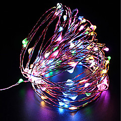 cheap LED Strip Lights-ZDM® 100 LEDs 10M String Light Warm White Cold White Multi Color Purple Yellow Blue Red <5V