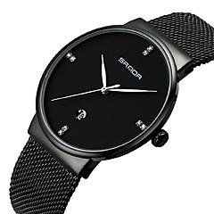 preiswerte Damenuhren-Damen Armbanduhr Einzigartige kreative Uhr Simulierter Diamant Uhr Japanisch Quartz Kalender Wasserdicht Legierung Band Elegant Schwarz