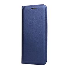 Недорогие Чехлы и кейсы для Huawei Mate-Кейс для Назначение Huawei P10 Plus / P8 Lite (2017) Бумажник для карт / со стендом / Флип Чехол Однотонный Твердый Кожа PU для P10 Plus / P10 Lite / P10