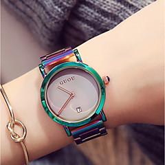 preiswerte Tolle Angebote auf Uhren-Damen Armbanduhr Japanisch Kalender / Chronograph / Wasserdicht Edelstahl Band Luxus / Modisch / Elegant Grün / Lila / Zwei jahr / Sony 377