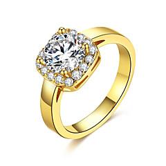preiswerte Ringe-Damen Kristall Bandring - Zirkon, Aleación Klassisch, Modisch 6 / 7 / 8 Gold / Silber Für Hochzeit / Party / Geburtstag