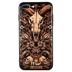 olcso iPhone 6 Plus tokok-Case Kompatibilitás Apple iPhone 6 iPhone 6 Plus iPhone 7 Plus iPhone 7 Dombornyomott Fekete tok Punk Kemény PC mert iPhone 7 Plus iPhone